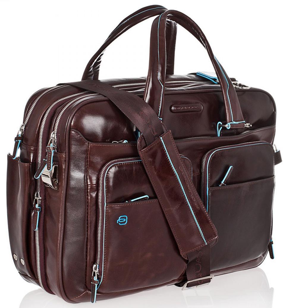 3429fbf88b08 Сумка Piquadro Blue Square CA2765B2/MO коричневая, два отделения - Купить кожаную  сумку Пиквадро | Time Bags
