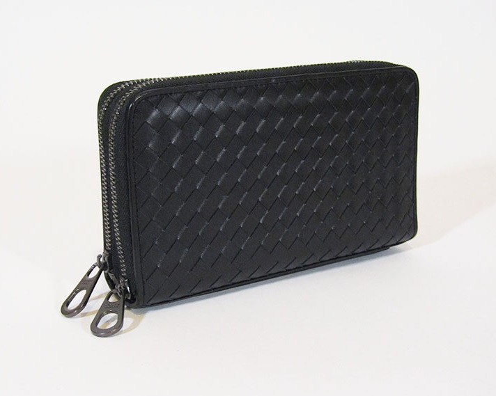 58dd215ebb33 Портмоне Bottega Veneta с двумя молниями - Купить кошелек Bottega Veneta    Time Bags