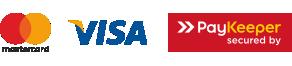 Оплата картами Visa, Mastercad, Мир